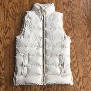 J. Crew Cream/Ivory Puffer Vest (NWOT)